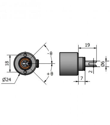 Miniaturized wheel base 18 mm